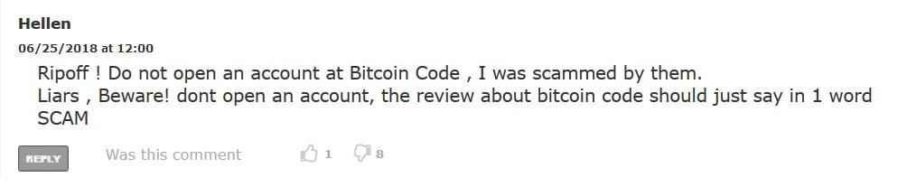 hellen bitcoin code comment